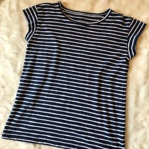 3/$20 Talbots Navy striped top small